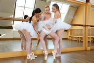 Sexy flexy ballerina teens