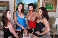Strap-on dildos for horny lesbians